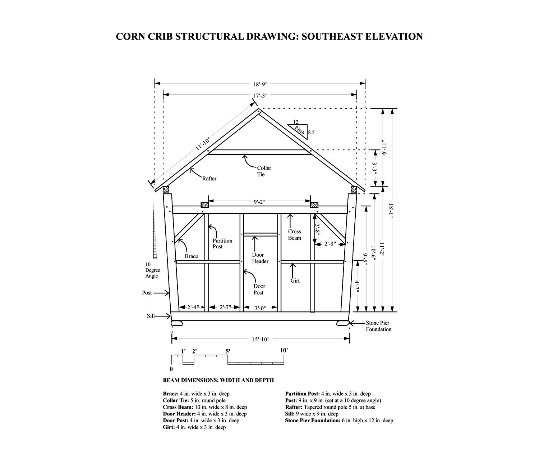 Scottish Barn East Elevation | corn crib | Pinterest | Crib and Barn