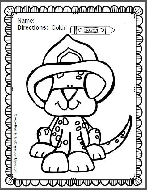 Fire Safety Coloring Pages Dollar Deal | Printable coloring sheets ...