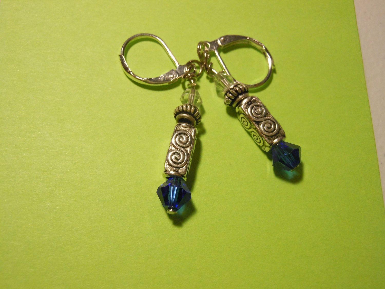 Doctor Who Sonic Screwdriver Earrings Swarovski Crystals Clasp Type Tibetan Silver. $6.99, via Etsy.