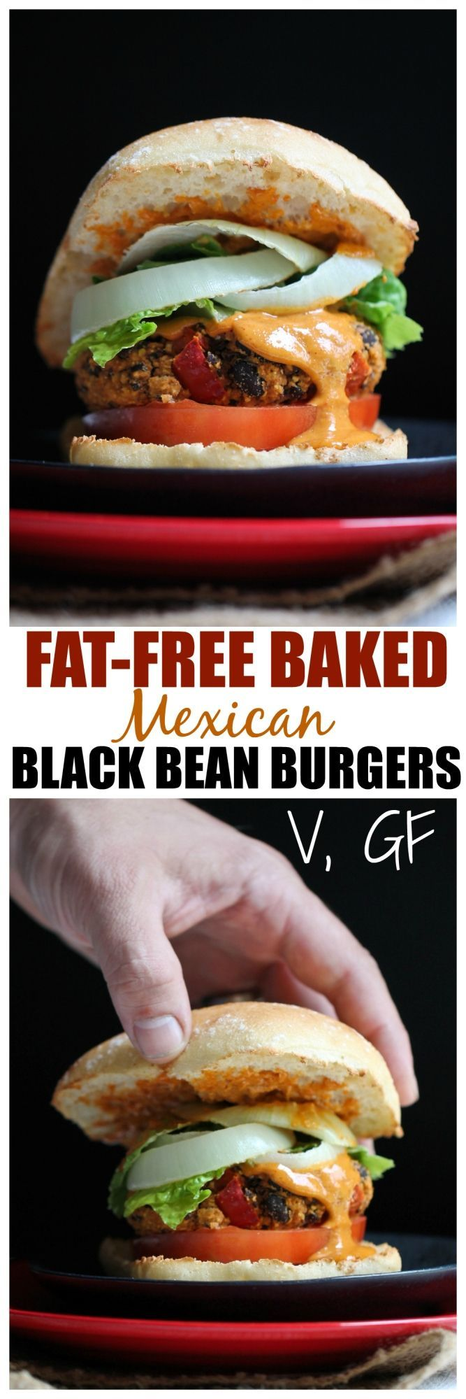 Baked Mexican Black Bean Burgers Finallllyyyy a black bean burger that doesn't fall apart, has a nice chew to it and doesn't all squish out from the inside when you take a bite! Do you all know what I'm talking about?? I can't sta...Finallllyyyy a black bean burger that doesn't fall apart, has a nice chew to it and doesn't all squish out from the inside when yo...