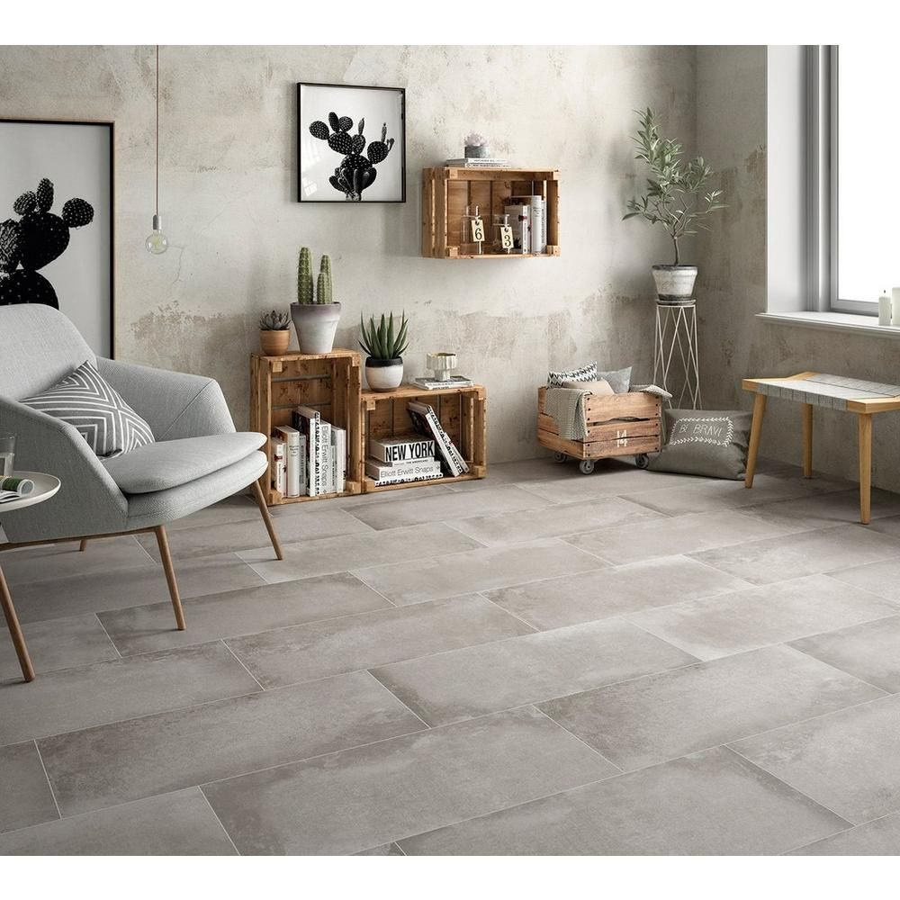 District Gray Porcelain Tile In 2020 With Images Gray Porcelain Tile Concrete Look Tile Large Format Tile