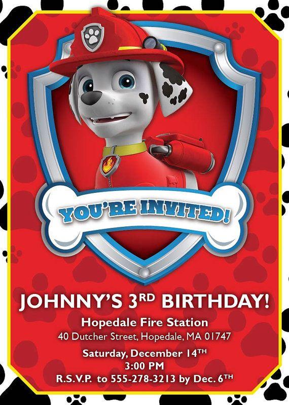 Nick Jr Paw Patrol Birthday Invitation By GigiPistoneDesign 1000