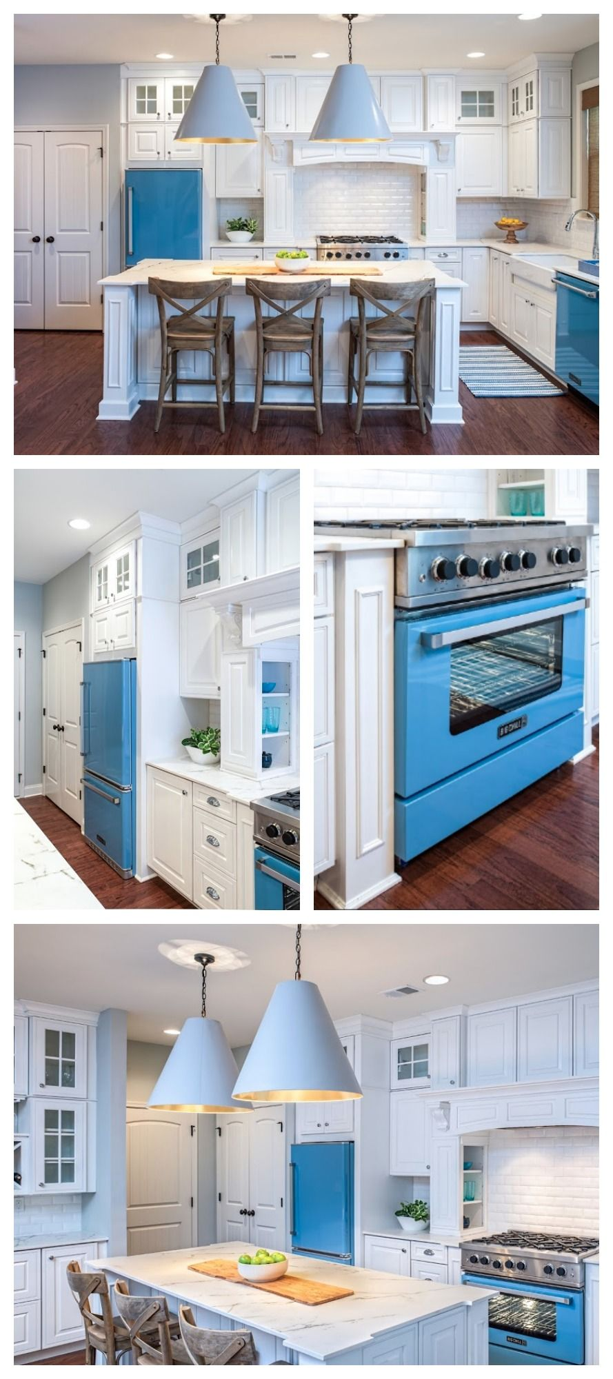 The color of sand and the ocean make up a perfect kitchen for a ...