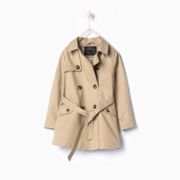 4a1c069022 Zara Children's Nude Trench Coat Very cute children's trench coat ...
