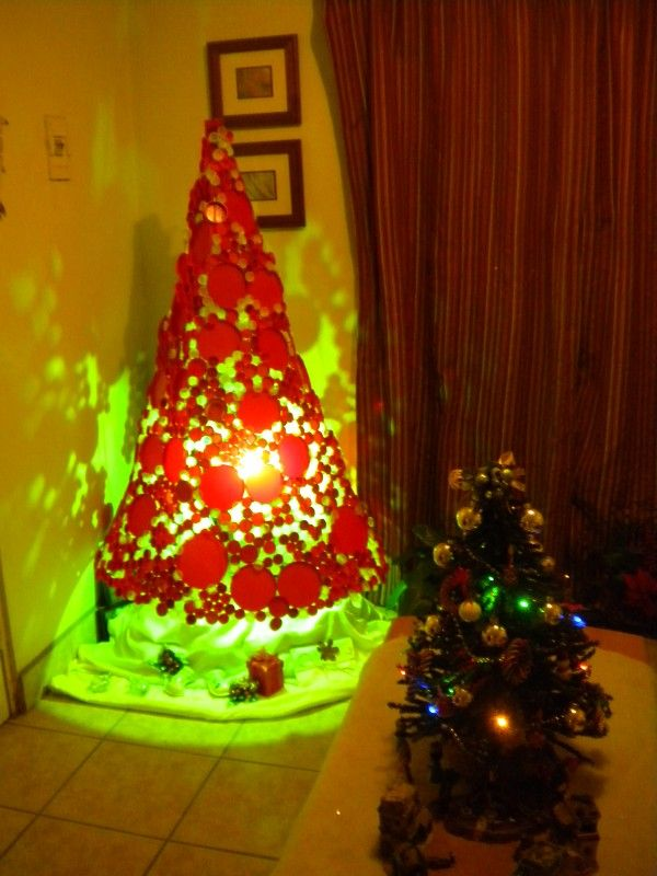 Plastic Bottle Caps Christmas Tree Recycled Christmas Decorations Plastic Bottle Caps Bottle Cap Crafts