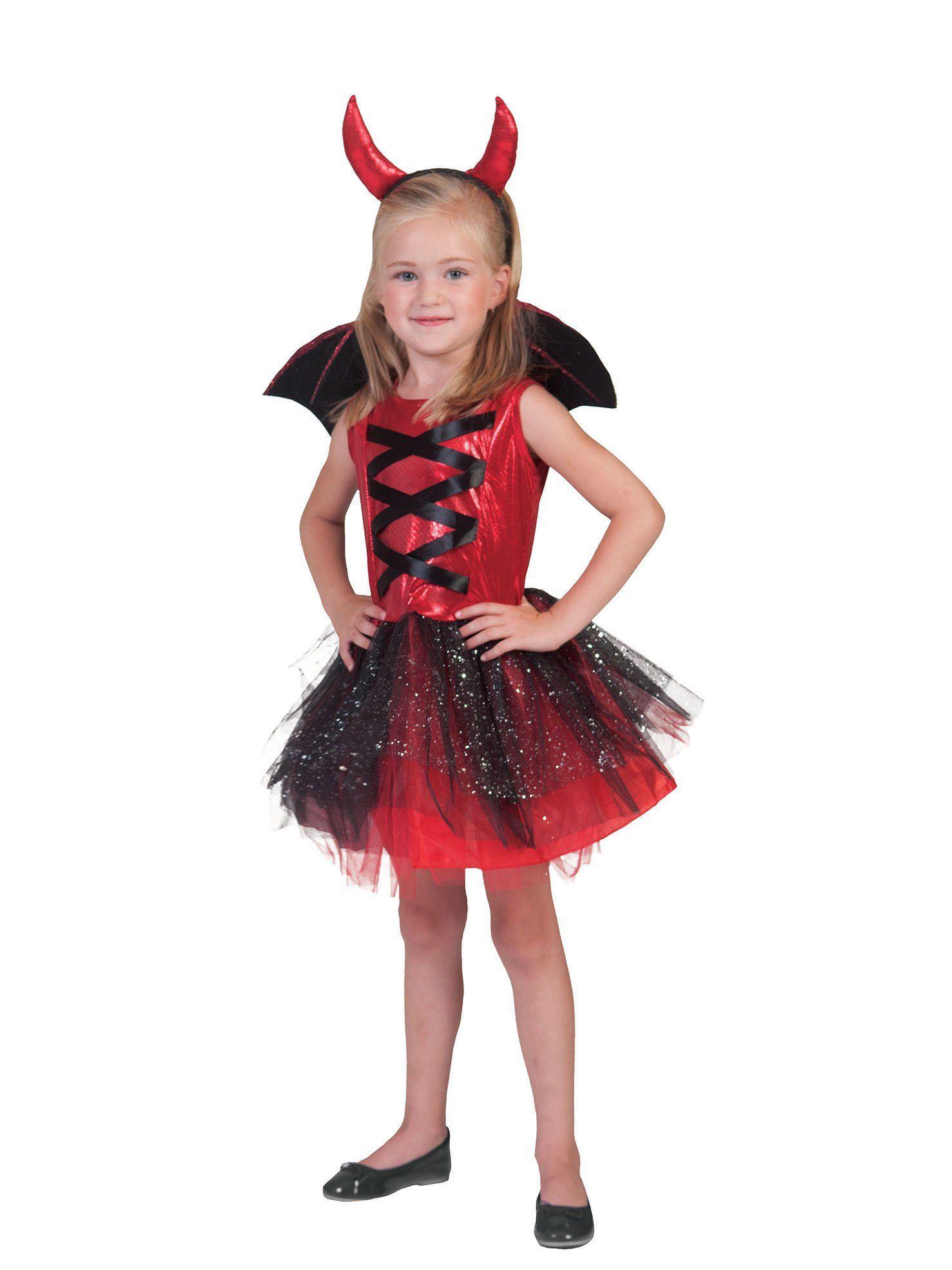 Disfraz diablesa tutú con alas niña Halloween en 2020