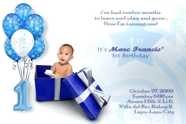 Creative Birthday Invitation Card Baby Buick First