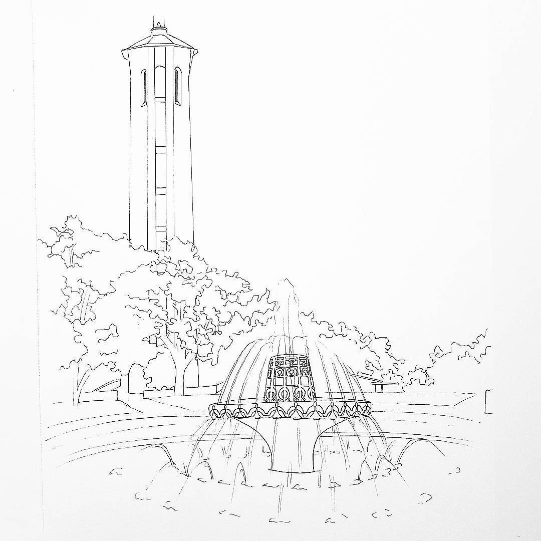 Trinity University San Antonio, TX outline coloring page by Alexa\'s ...