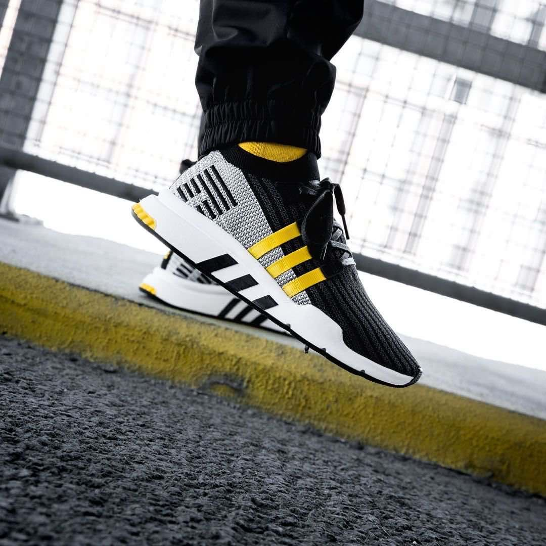 reputable site 38d17 8b7bb Adidas EQT Support Mid ADV PK Black / Yellow | jeans ...