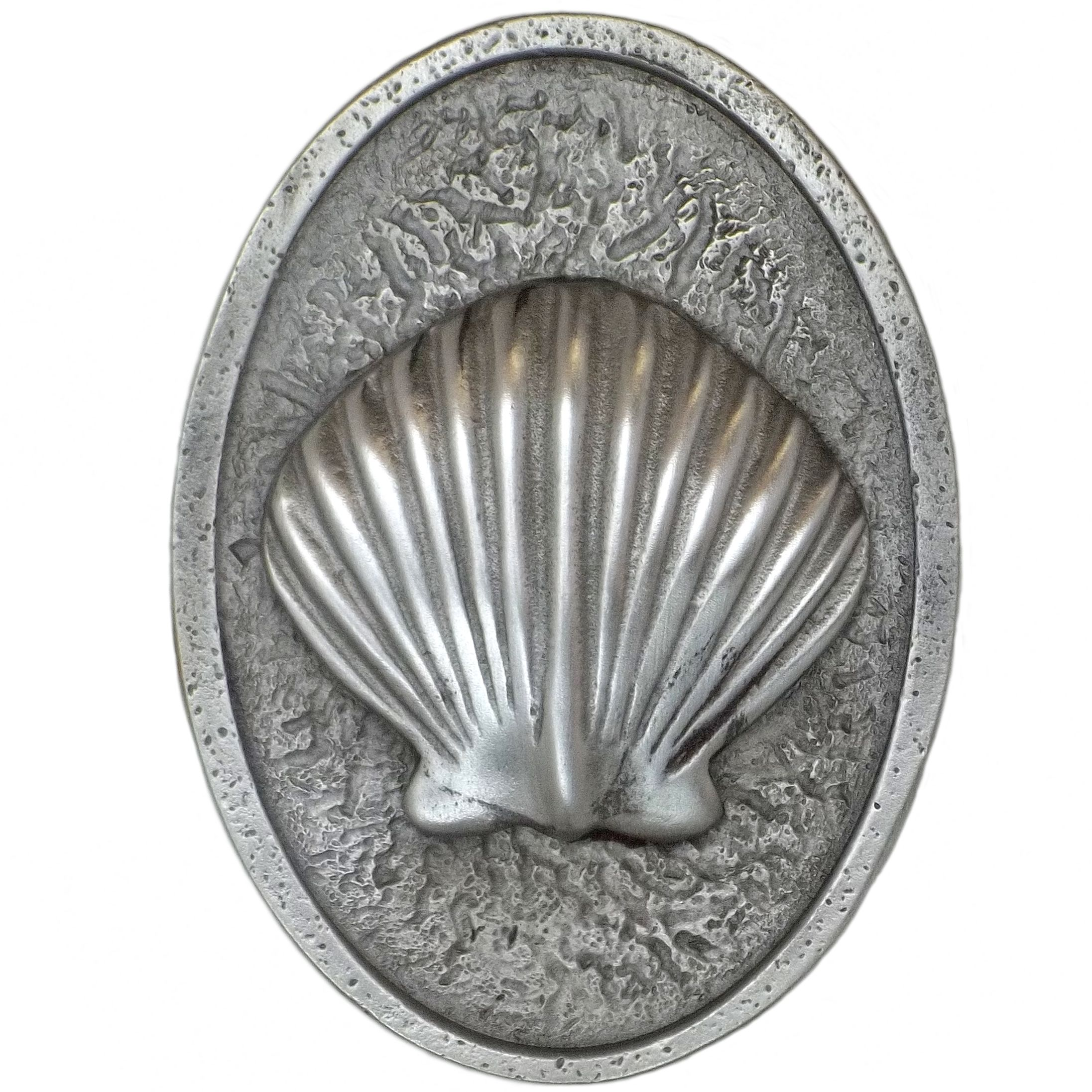 scallop shell drawer knobs cast in pewter shown in. Black Bedroom Furniture Sets. Home Design Ideas