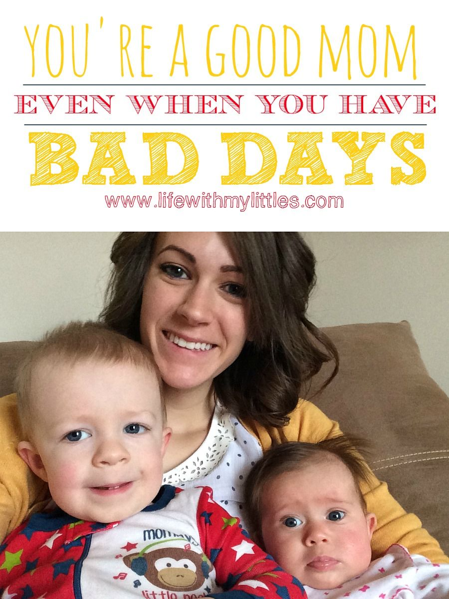 Love this post! Such a great reminder that everyone has bad days, but you're a good mom despite the bad mom days! Read this for a great pick-me-up!
