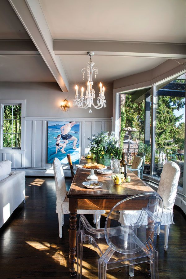 Yard Sales And Vintage Shops For Chairs Years Later This Eclectic Assortment Of Furniture Still Welcomes People To The Table Diningroom Home