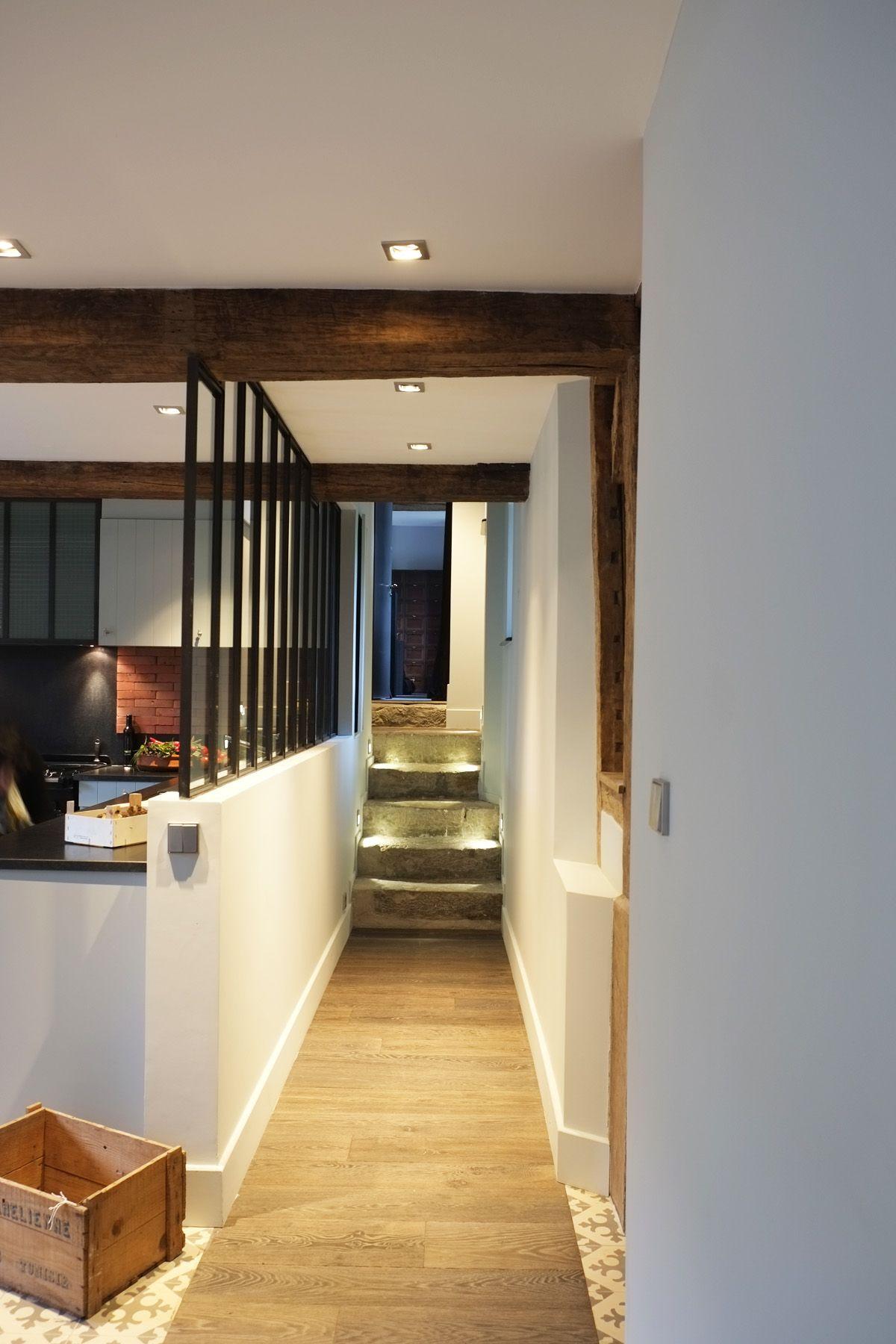Une maison très masculine... Pierre, bois, métal by l\'Atelier d ...