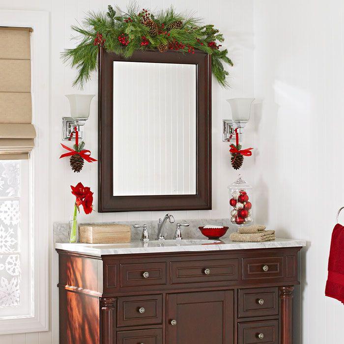 Cheer Up the Guest Bath | Crafts | Pinterest | Guest bath, Christmas ...