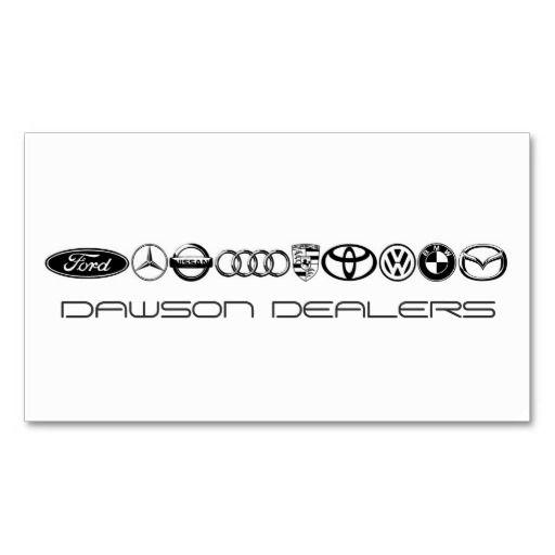 Carte De Visite Paper Patterns Auto Sale Dealers Cars Business Card Cards Sales