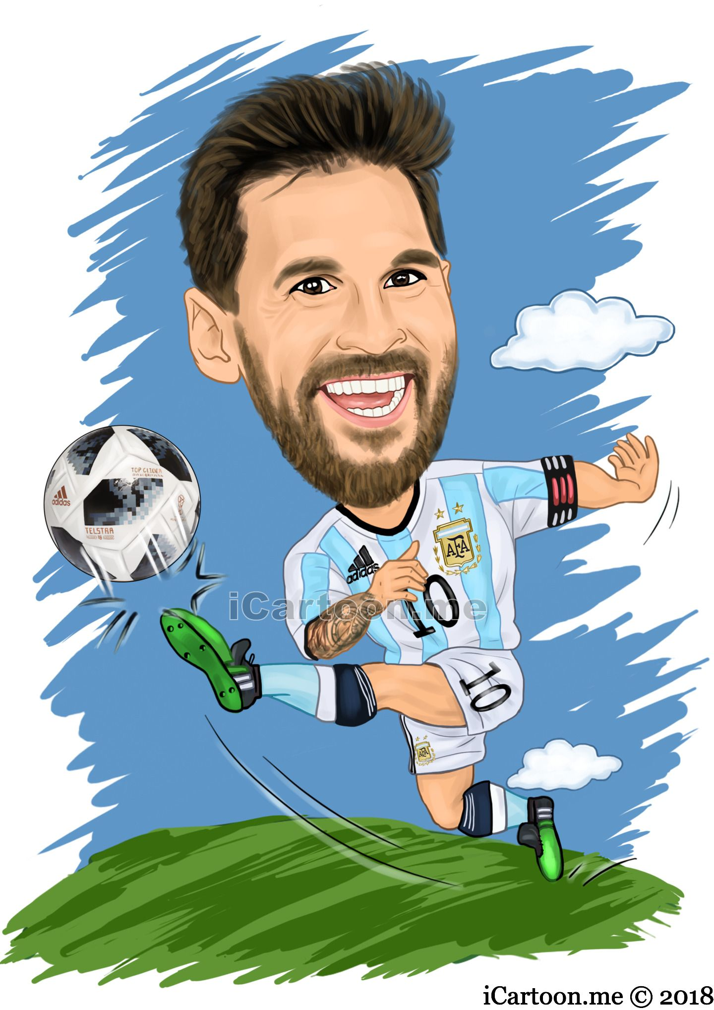 Lionel Messi In The World Cup 2018 Soccer Caricature Caricature Caricature Drawing Lionel Messi