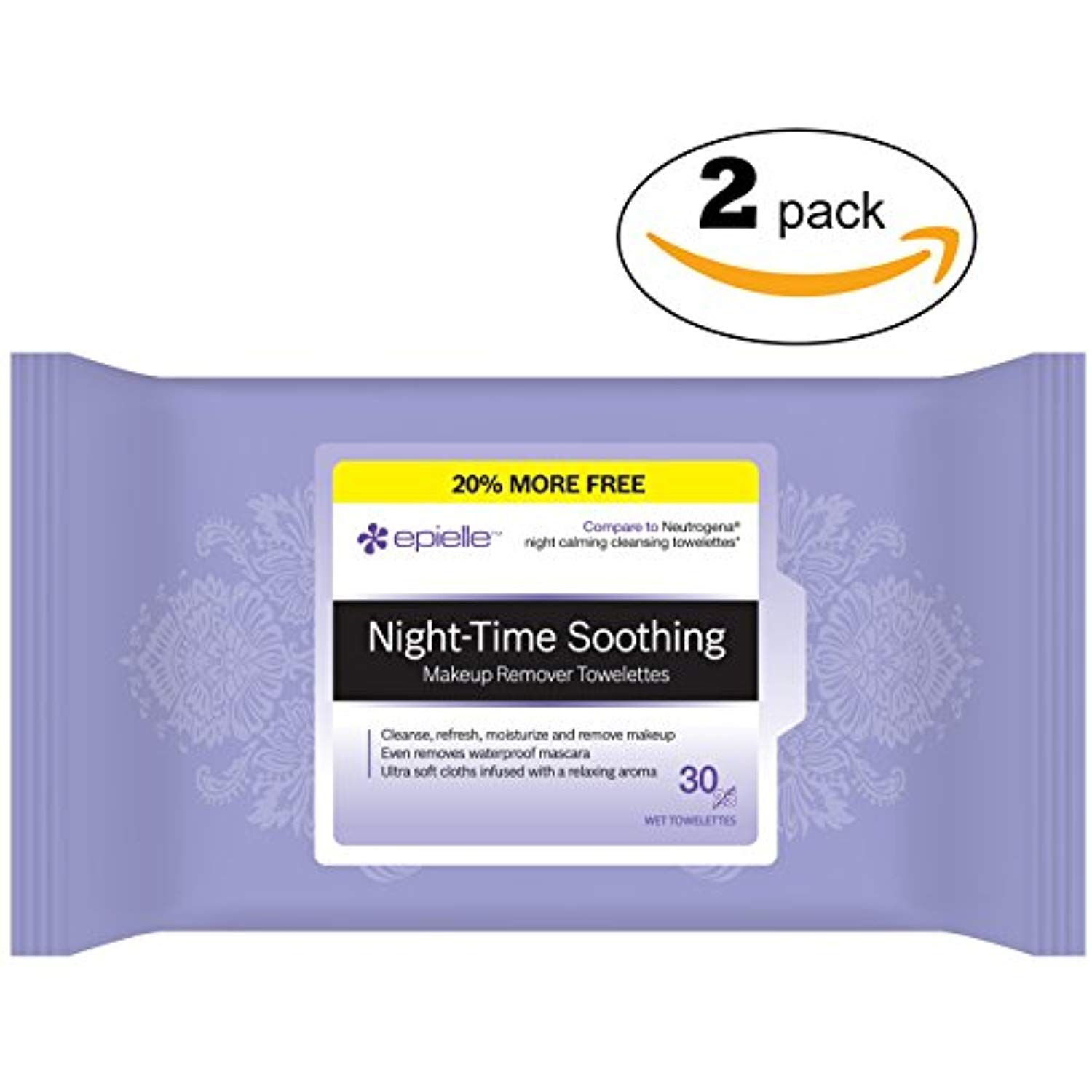 Epielle Night Time Soothing Makeup Remover Tissues30ct (2