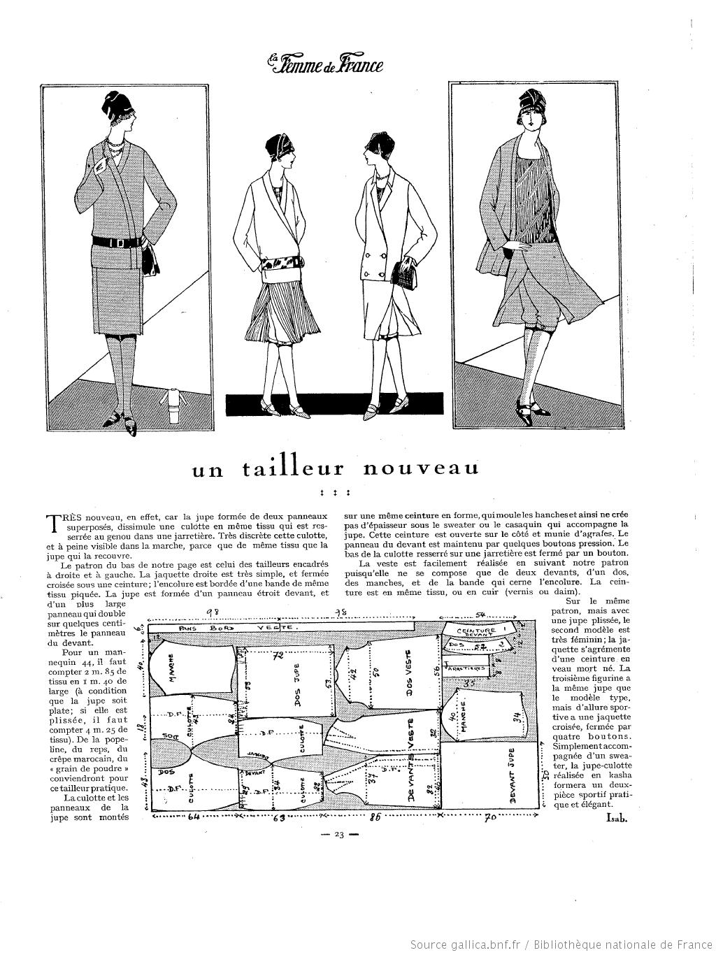 La Femme de France 1927 | france 1920 | Pinterest | Patrones de ...