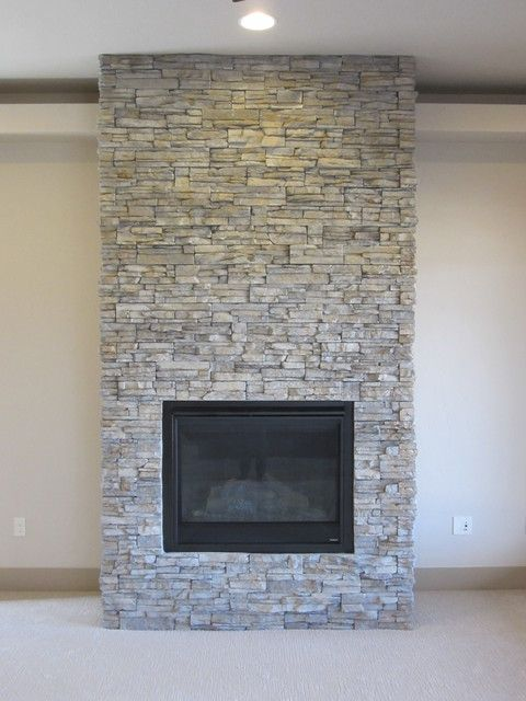 Beautiful Decorative Stone Wall Stacked Stone Fireplaces