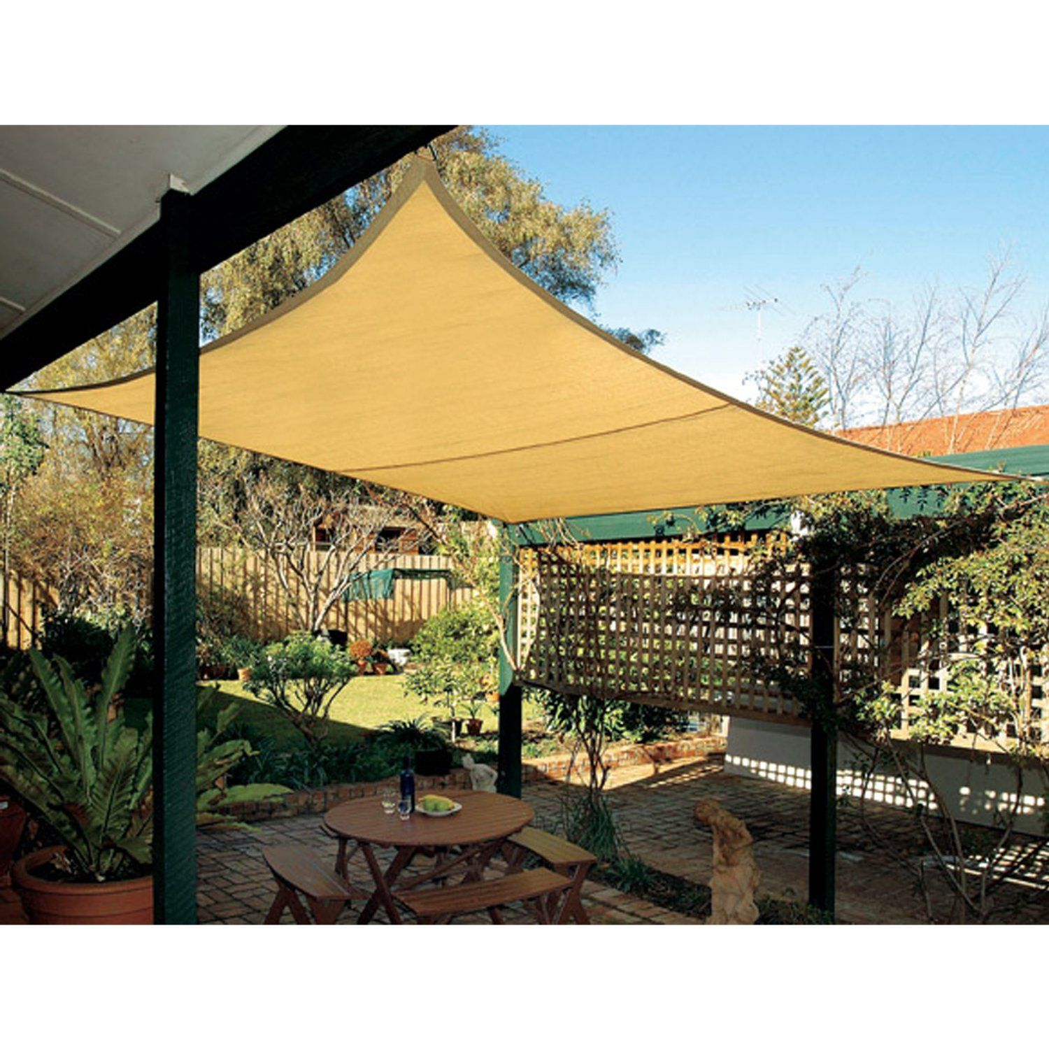 amazon com coolaroo square shade sail 17 feet 9 inches with