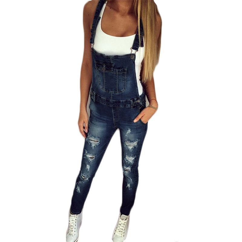 2017 Autumn Pants Jumpsuits Women Overalls Jeans Jumpsuit Office