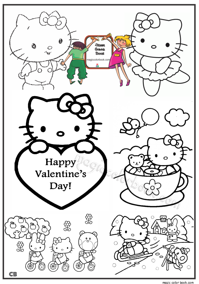 Pin von Magic Color Book auf Valentine\'s Day Coloring pages | Pinterest