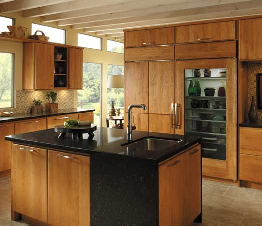 Cherry Kitchen Cabinet Doors: StarMark Cabinetry Monroe Door Style In Cherry Finished In