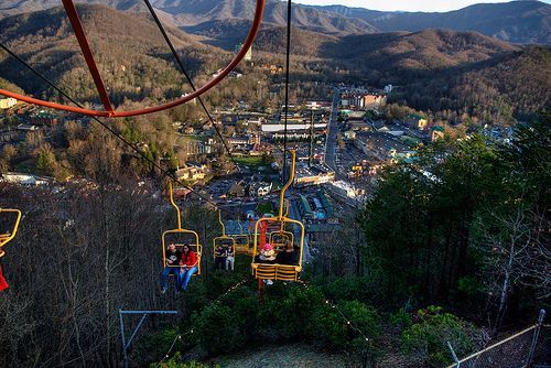 Attractive Gatlinburg Ski Lift, Family Fun And A Great View.
