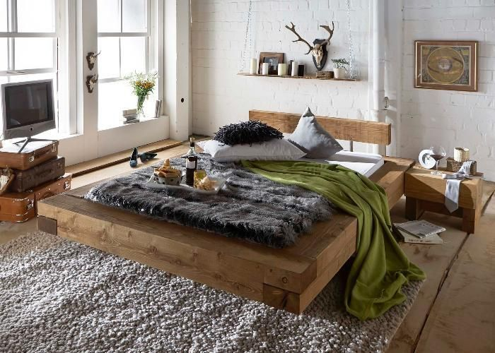 massivholzbett rustika ein traum aus massiven. Black Bedroom Furniture Sets. Home Design Ideas