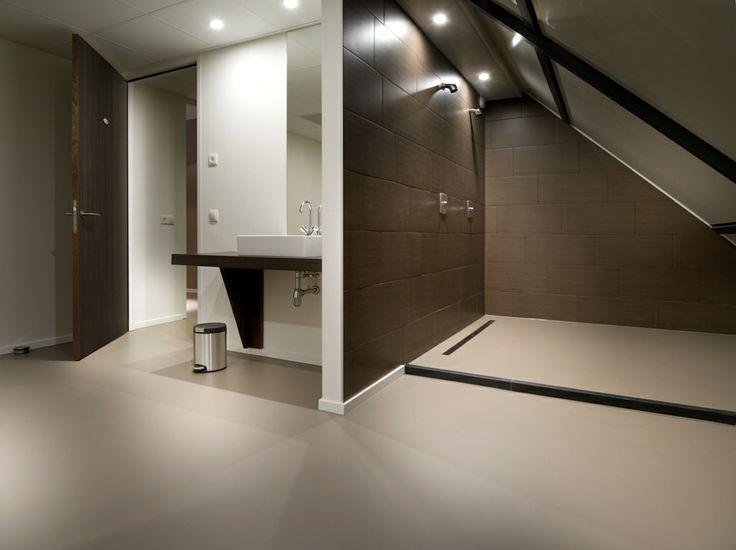 Gietvloer Badkamer Douche : Pu gietvloer badkamer polyurethan