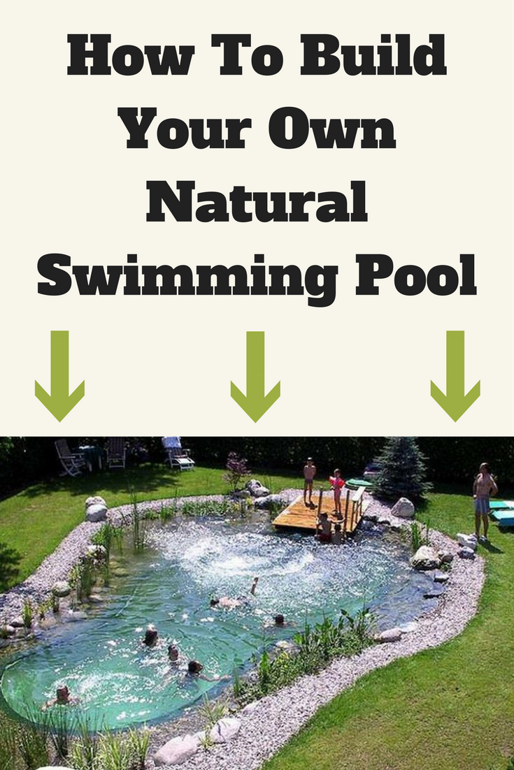 Build your own swimming pool from recycled materials for a for Build your own pool