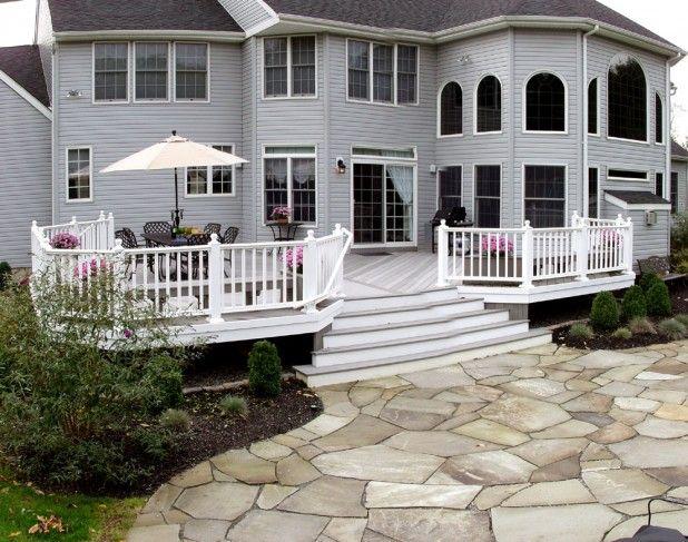 Outdoor Wonderful House Decoration Backyard Deck Oftrax Modern Home Decor Ideas Hardscape Patio Building A Deck Paver Patio