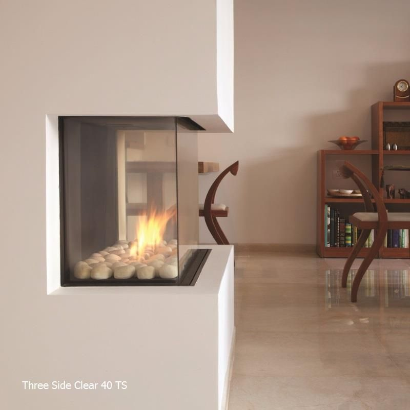 Ortal Three Side Gas Fireplace Collection Gas Fireplace