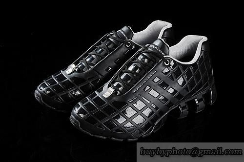 wholesale dealer e7258 b2580 Men s Adidas Porsche Design 6 Running Shoes Full Head Leather Black Silvery only  US 85.00