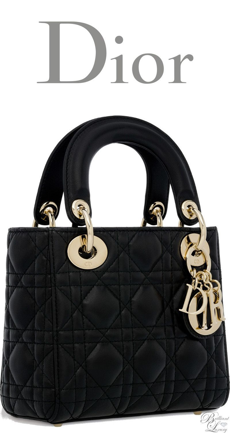 Brilliant Luxury   Dior Classic 2016 ~ Mini Lady Dior bag in black lambskin 9f2fd766addc4