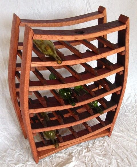 Wine Rack Made From Used Barrels 3 300