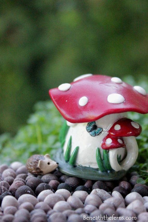 Gnome Garden: Miniature Mushroom House Tiny Fairy Garden By