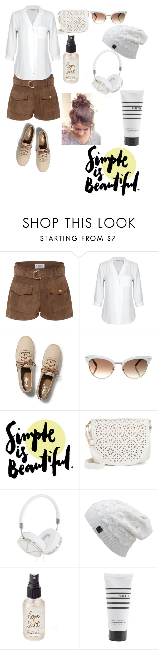"""""""As White as it'll Ever Be."""" by jenniferchang527 ❤ liked on Polyvore featuring beauty, Frame Denim, Keds, Gucci, Under One Sky, Frends, Olivine and Pirette"""