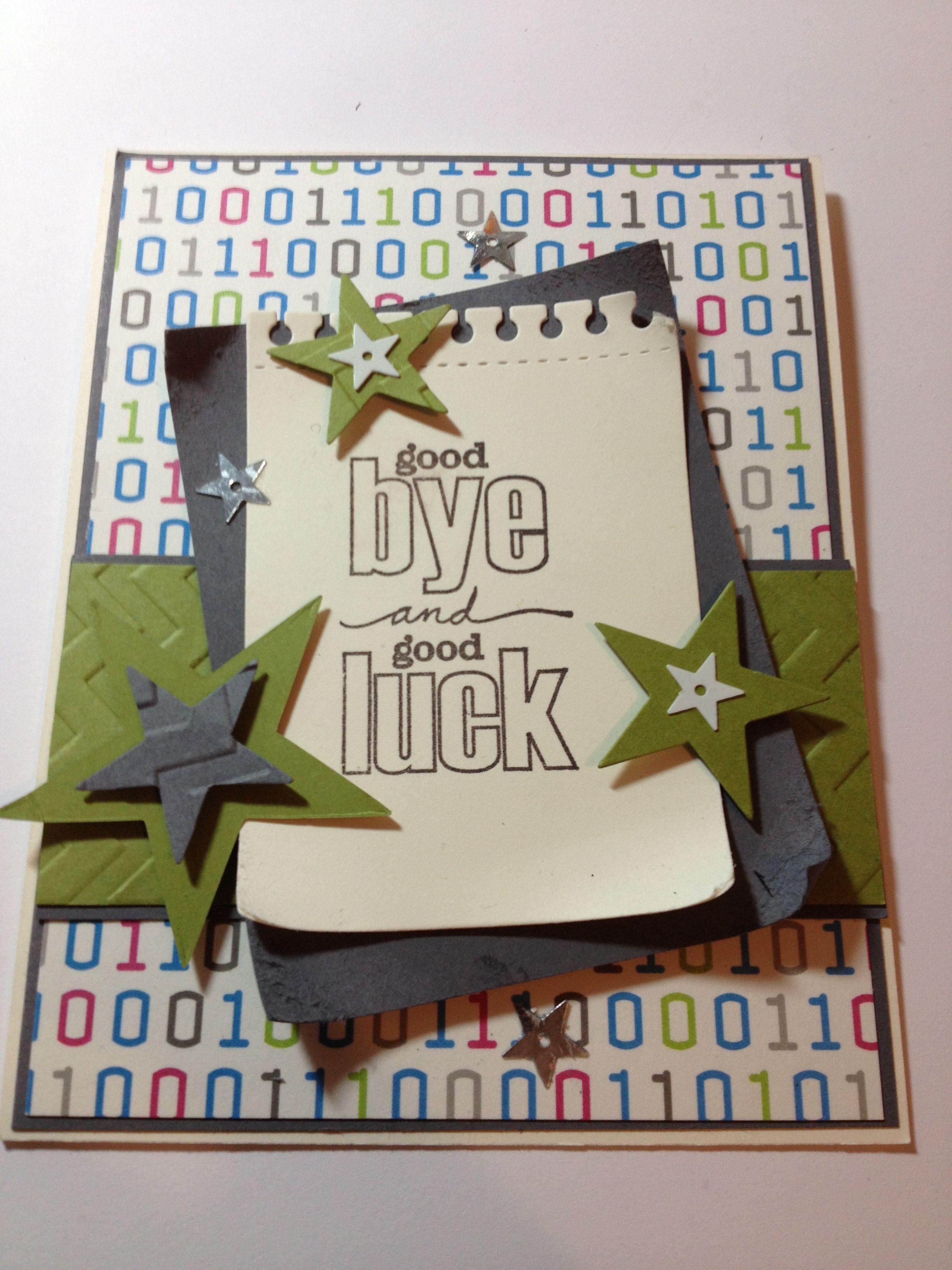 Farewell Card Farewell Cards Card Design Handmade Cards Handmade