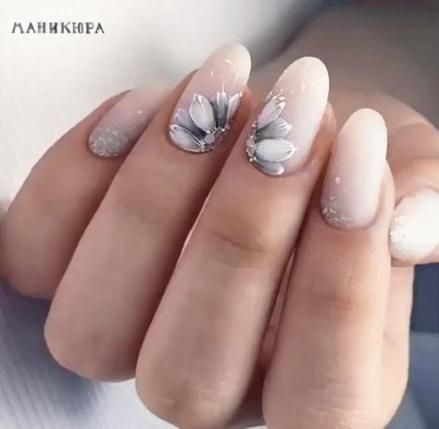 6 wedding Nails gray ideas