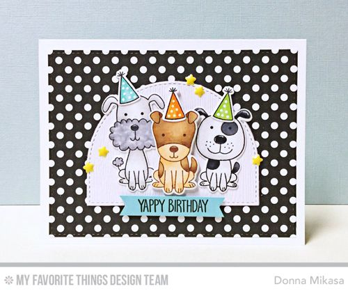 Handmade card from Donna Mikasa featuring the April 2017 Release from My Favorite Things #mftstamps