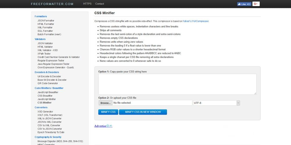 Freeformatter CSS Minifier | CSS Minifier | Tools, Seo, Amazing