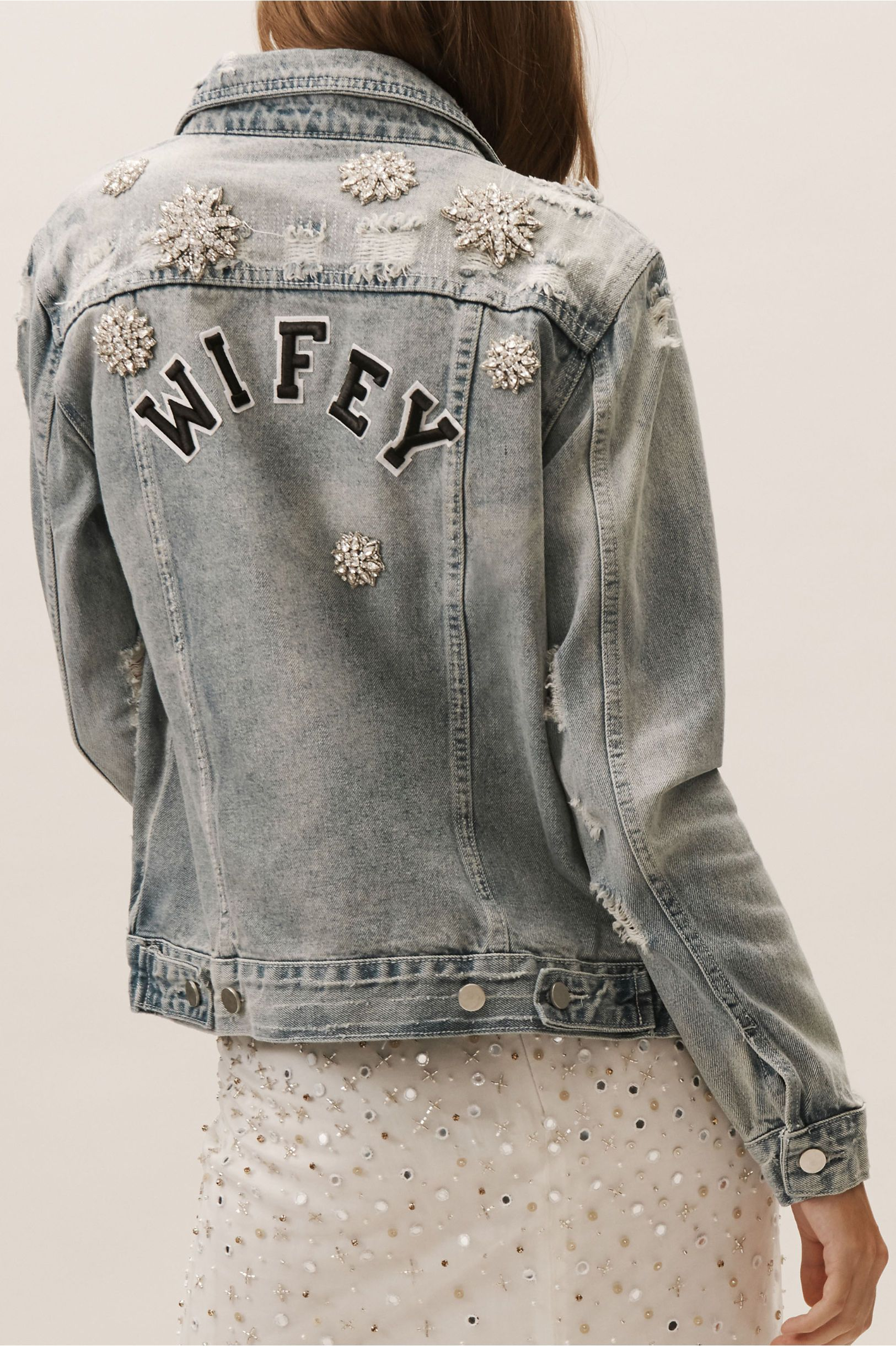 This jean wedding jacket is perfect for portraits wifey denim