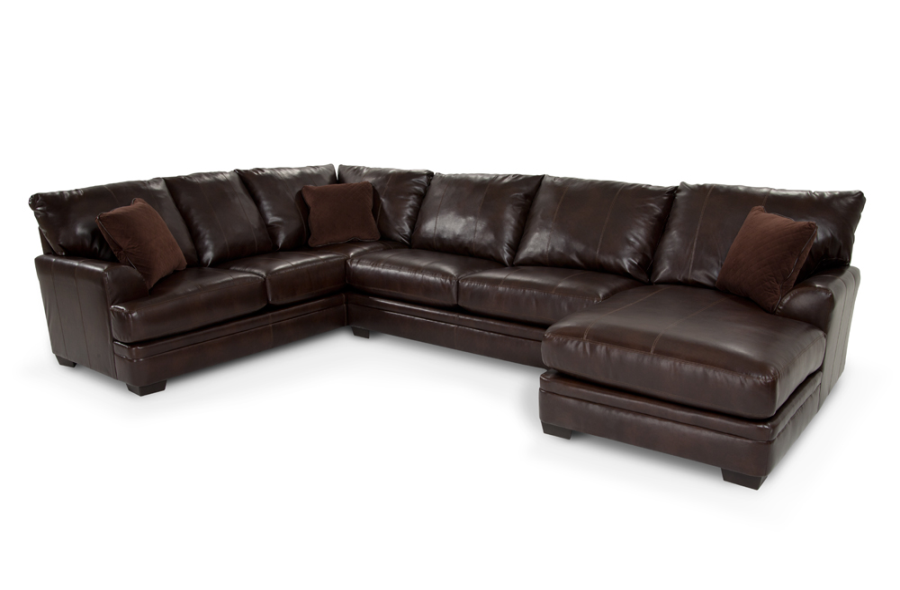 Bonded leather sectional bob39s 1499 home sweet home for Bob s leather sectional sofa
