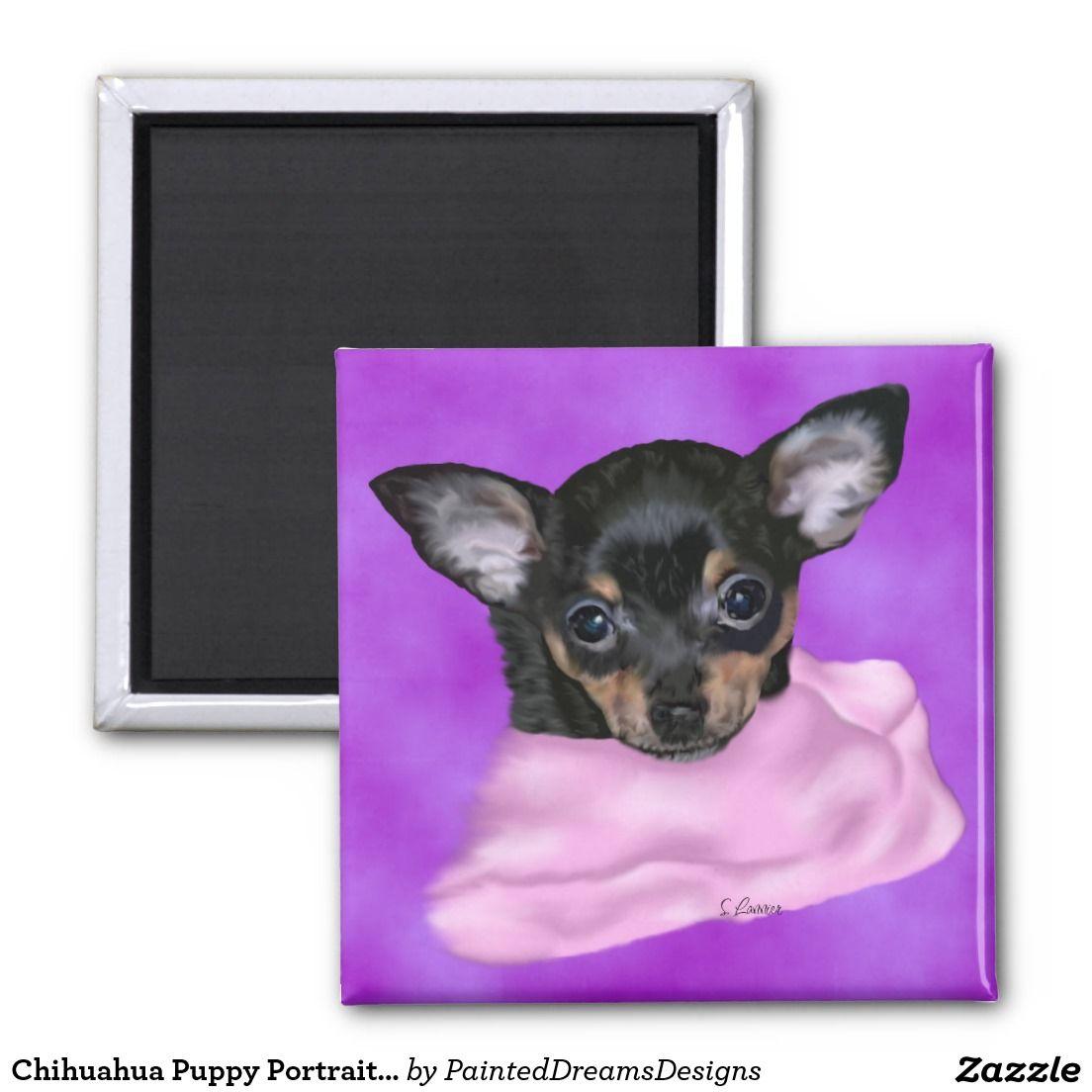 Black And Tan Chihuahua Puppy Magnet Zazzle Com Chihuahua