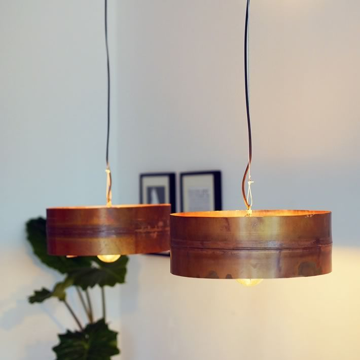 COPPER MOON: Old Boiler Turned Into Stylish Pendant Lamp By Indusigns Home Design Ideas
