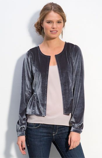 love this velour jacket!
