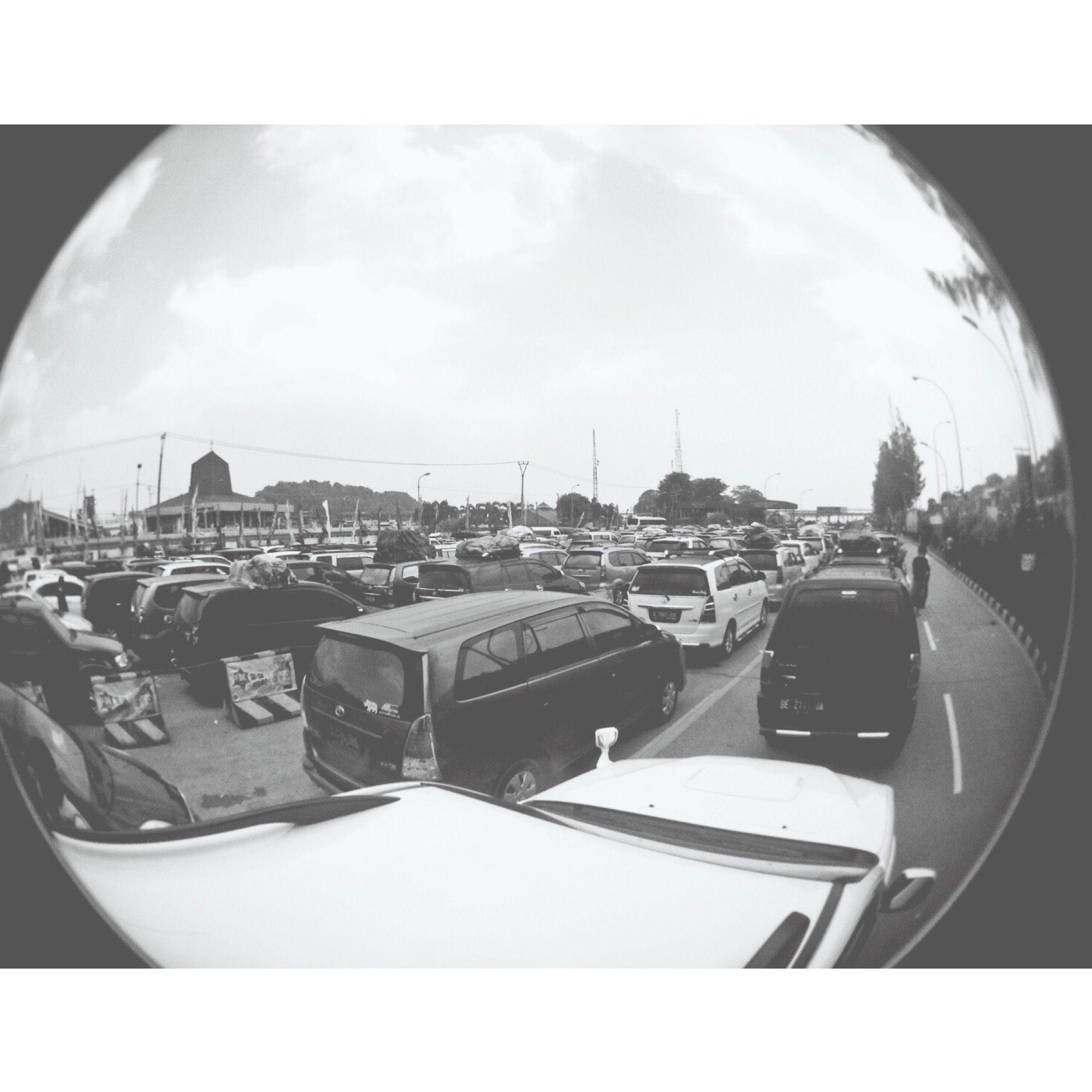 traffic diambil saat mudik tahun 2015 dengan lensa fish