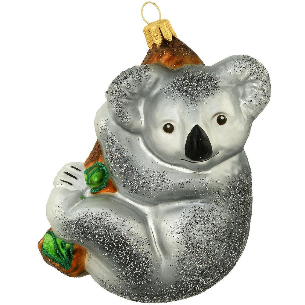 Koala On Tree Branch 4 Inch Glass Ornament Glass