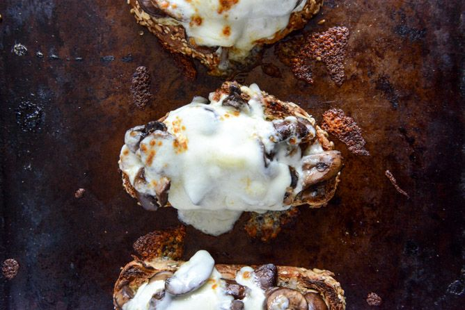 Mushroom Melts With Mustard Aioli via Brit + Co.